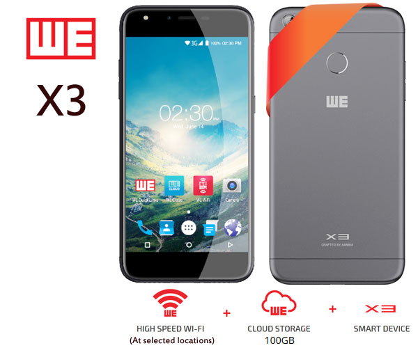 WE X3 mobile phone