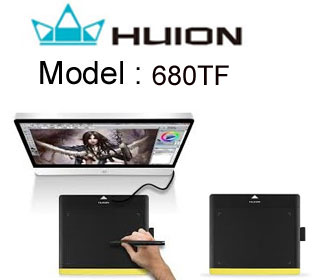 HUION 680TF graphic drawing tablet