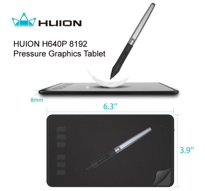 HUION Pressure Graphics Tablet
