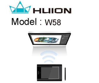 Huion W58 Wireless Graphic Tablet
