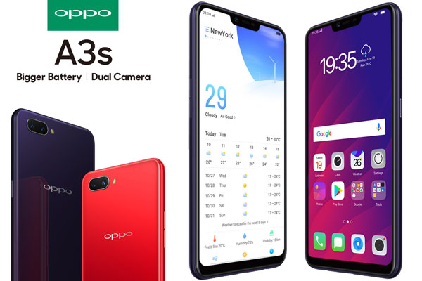 OPPO A3s Price in Bangladesh - Specifications & Picture