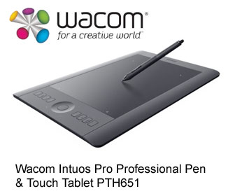 Wacom Intuos Pro Professional Pen Touch Tablet PTH651